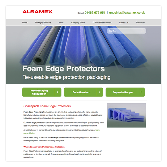 Website (www.alsamex.co.uk)