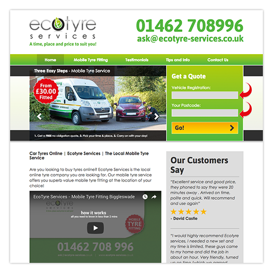 Website (www.ecotyre-services.co.uk)