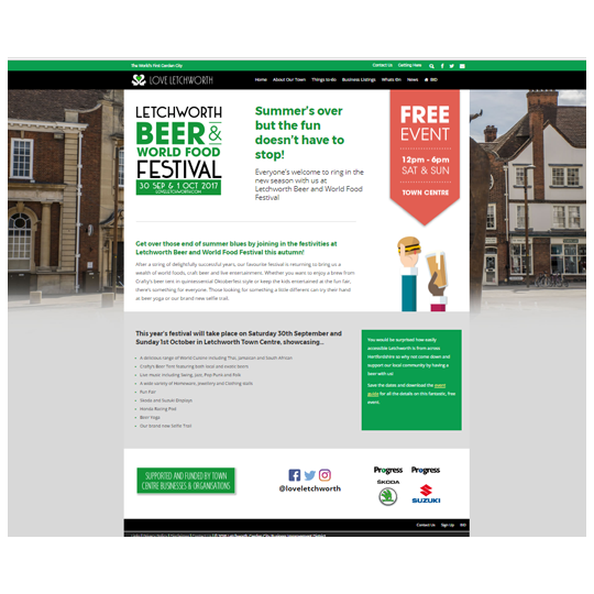 Beer & World Food Festival Campaign 2017